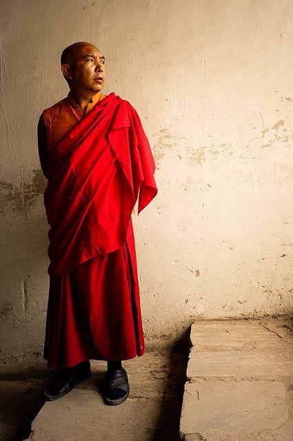 A Tibetian buddhist monk at Hemis Monastery in Ladakh, India. #NomadsSecrets
