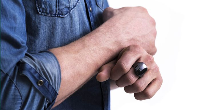 """Ōura.  Ring """"knows when you go to sleep, and when you wake up, when you are active, and when you are sitting."""" Calculates HR, breathing rate, sleep profile (stages, wakefulness), activity. Ceramic, waterproof, scratch proof. Kickstarter: https://www.kickstarter.com/projects/oura/oura-ring-improve-sleep-perform-better"""