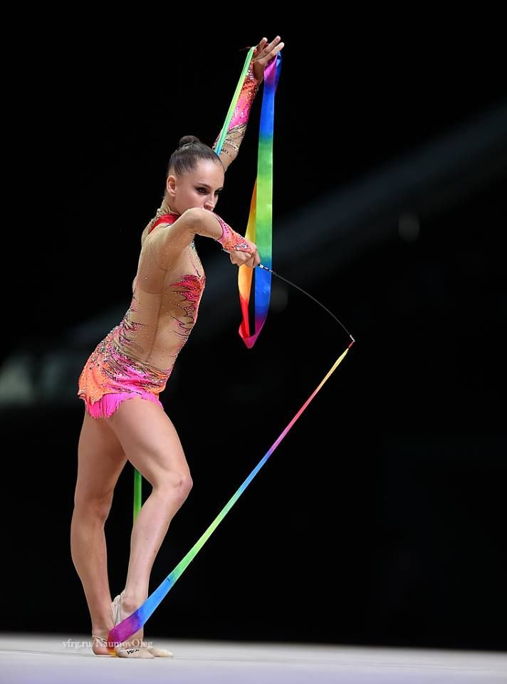 Veronica Bertolini (Italy) got  16.400 points for ribbon at Qualifications, Olympic Games 2016