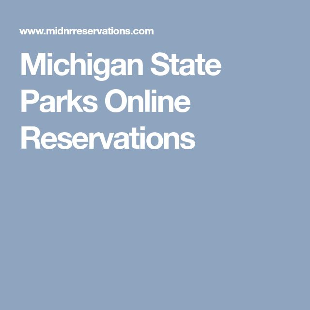 Michigan State Parks Online Reservations