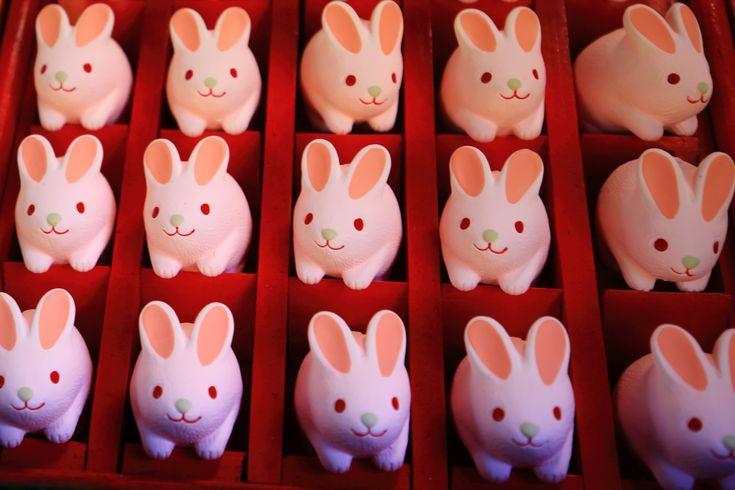 京都 岡崎神社 うさぎおみくじ 安産祈願 Japan,Kyoto,Okazaki Shrine,Sacred lot of the rabbit