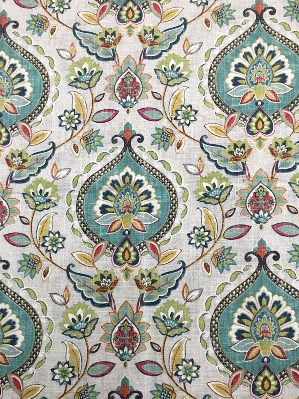 Quintell Bay Water Drapery Fabric- Custom retail drapery workroom can use this fabric to make curtains to fit your windows perfectly in one week!