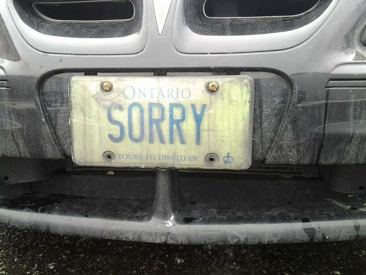 :) The most Canadian licence plate I've ever seen