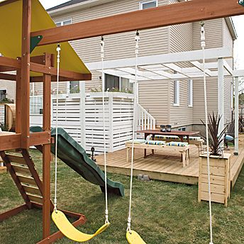 See The Patio In The Background Pergola And Planter Help Define It Home Patio Pinterest