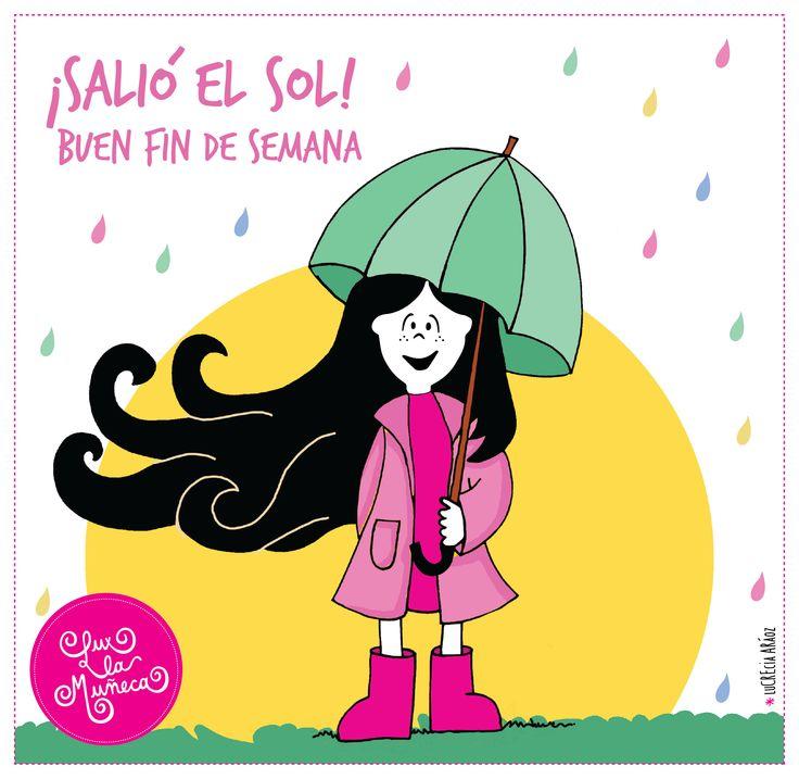 Lux bajo la lluvia!   #lux #muñeca #pink #doll #lluvia #rain #sol #sun #ilustration #ilustracion ver mas en FB: lux la muñeca