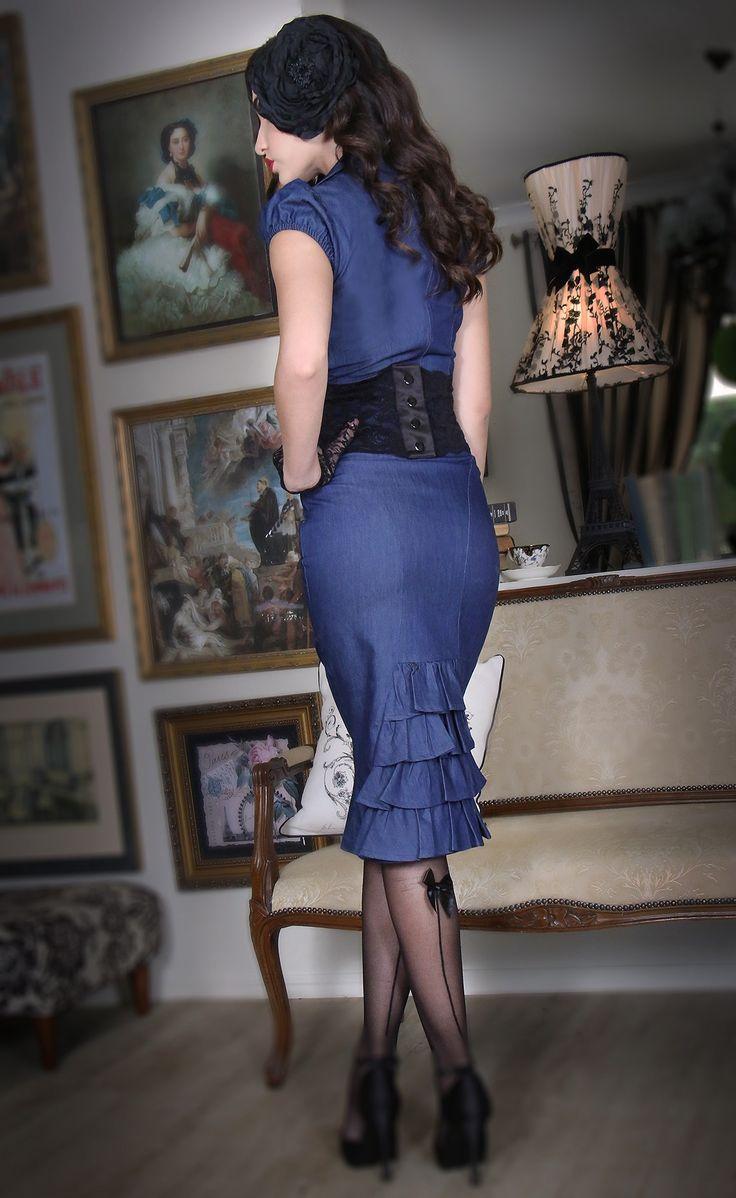 Midnight In Paris Bustle Skirt