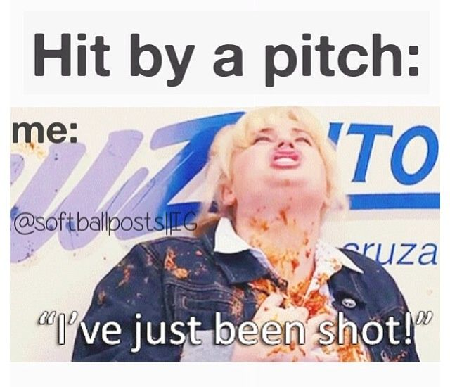 Pretty sure all of my teammates accused me of doing this after I leaned into a pitch...#softball