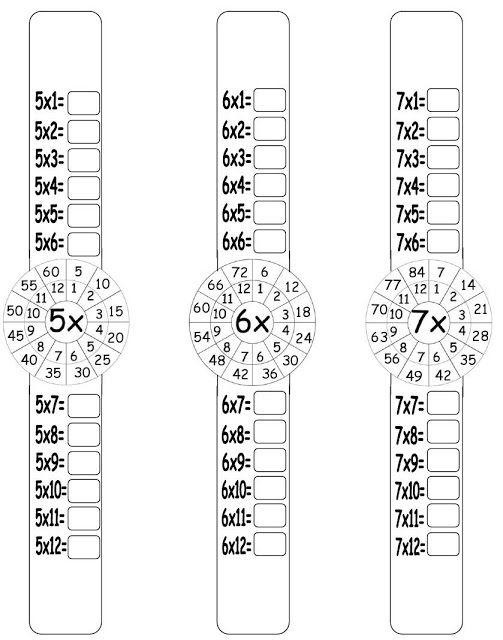 Relógio da Multiplicação - Atividades Adriana