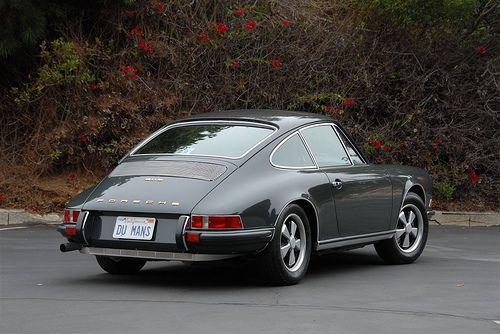 Steve McQueen's 1970 911S,  Slate Grey on Black