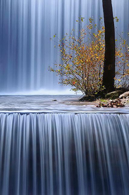 Palaiokaria Waterfall, Trikala, Greece.