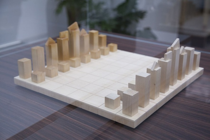 O arquiteto americano Richard Meier, que completa 50 anos de carreira em 2013, foi chamado para desenhar esse tabuleiro de xadrez