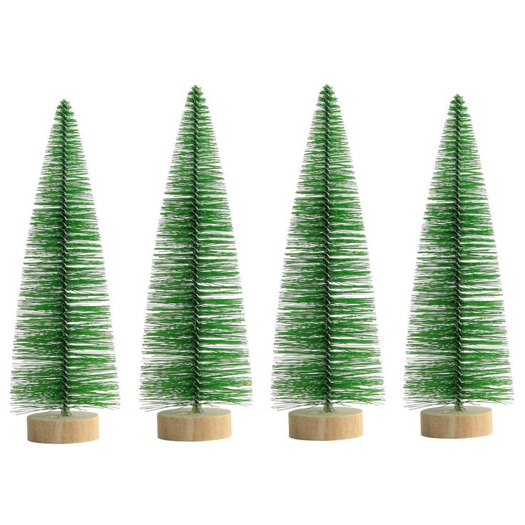Christmas Tree Ornaments Retro Green Bristle 18, 25 & 30cm Sizes #TheChristmasBoutique