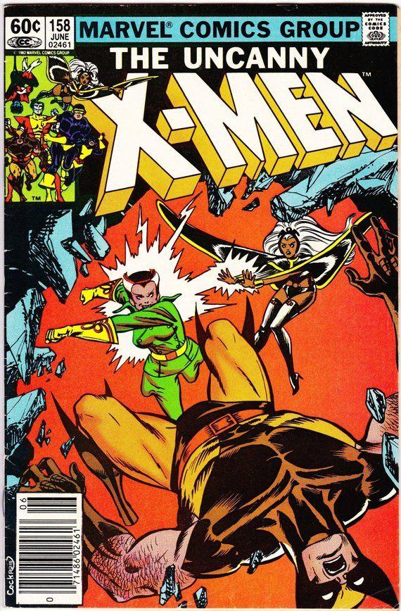 Uncanny X Men 158 June 1982 Marvel Comics Grade F Vf Etsy Marvel Comics Covers Xmen Comics X Men