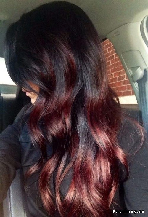 Maybe want to try a black to auburn ombre