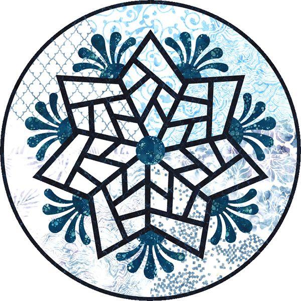 Scandinavian Snowflake Foundation Paper Pieced Quilt Pattern Judy Niemeyer Quilt