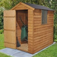 The 6x4 Shed with Easy Fit Roof is an excellent size garden shed for storing away gardening equipment neatly without taking up too much room where space is at a premium.   The impressive easy fit roof is much easier to install than standard boards and felt. It is made from durable polypropylene and won't rot like traditional boards or flap around in the wind like felt when faced with the typical British weather. This garden shed is manufactured from dip treated timber to give it an…