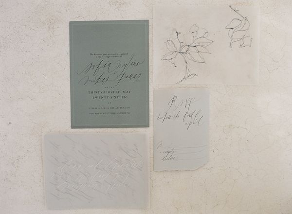 Classical Greece Inspirations. Wedding stationary ideas in a stone colour palette