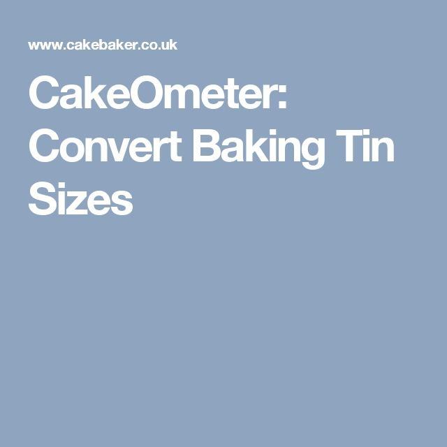 CakeOmeter: Convert Baking Tin Sizes