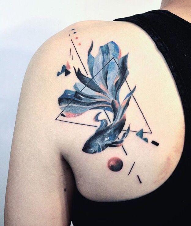 Hill tattooer fish tattoo ink inspiration pinterest for Goldfish tattoo meaning