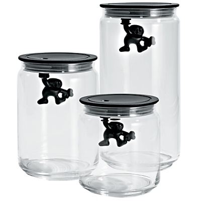 Buy Alessi Black Gianni Storage Jars online at JohnLewis.com - John Lewis