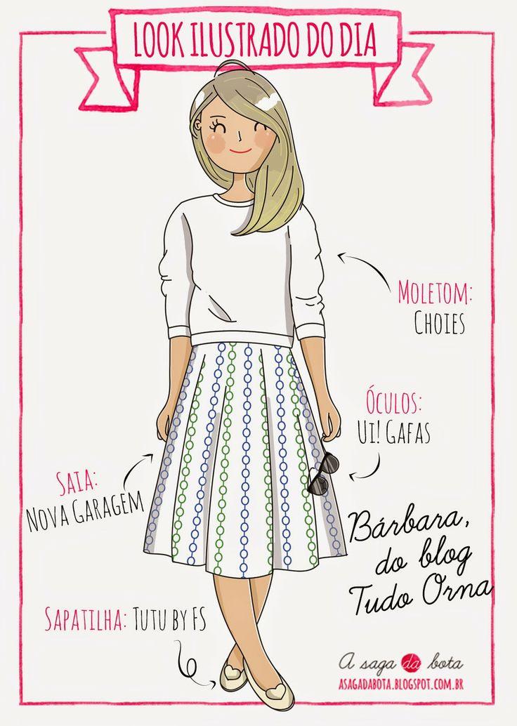 A saga da bota: Look ilustrado do dia: Bárbara, do blog Tudo Orna