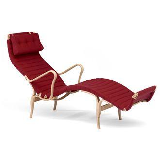 Bruno Mathsson Pernilla 3 Lounge Chair #red