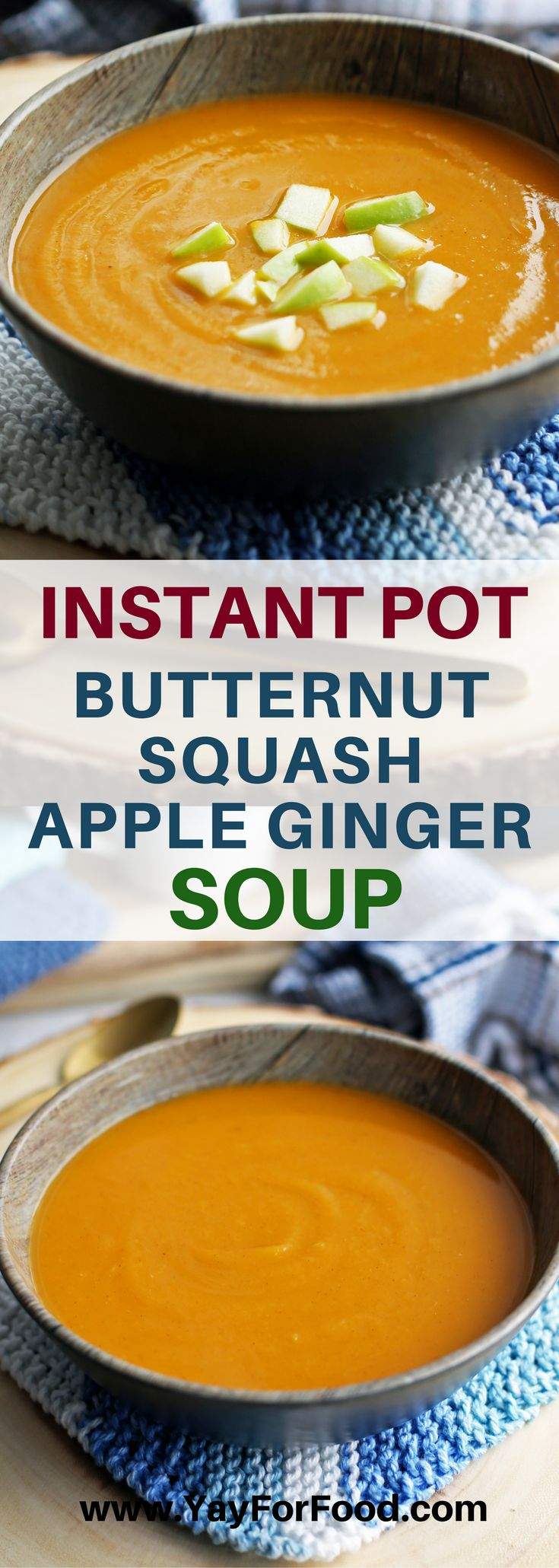 Butternut Squash Apple Ginger Soup