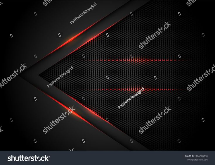 Abstract red light arrow on black with hexagon mesh design modern luxury futuristic technology background vector illustration. black#hexagon#mesh#arro…