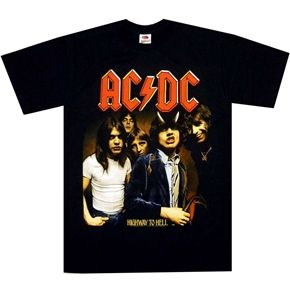 Official AC/DC shirt featuring classic Highway To Hell design.