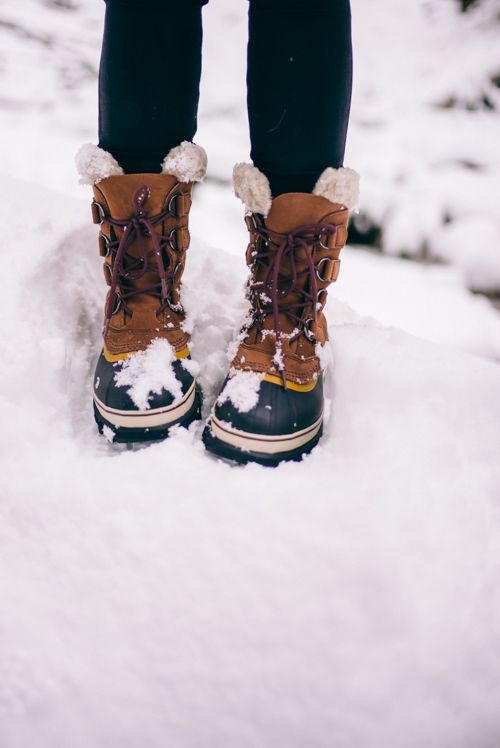 Not cold enough this winter, but I love these  (Sorel 'caribou' boots in buff)
