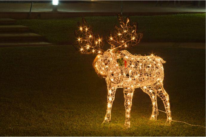 Los personajes más populares de la Navidad iluminando tu jardín.