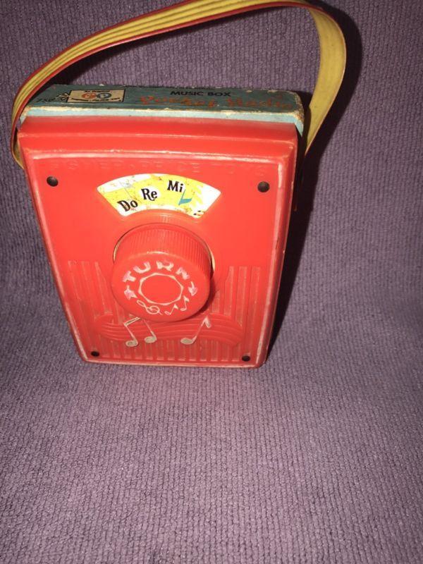 Fisher Price Music Box Pocket Radio 1969