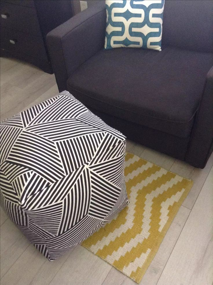 Make an Easy DIY Floor Pouf for $35 or less