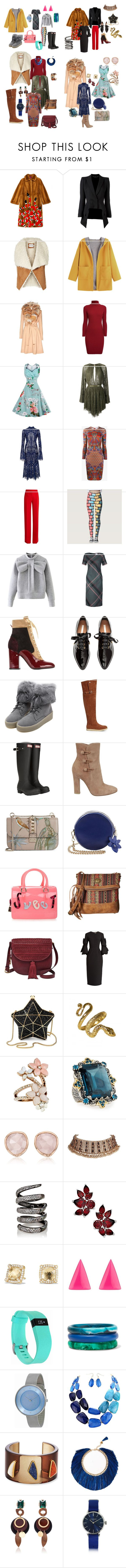 4 вектора стиля by cherry1979 on Polyvore featuring Givenchy, Jay Ahr, Rumour London, Roksanda, WithChic, Alice + Olivia, Gucci, Alexander McQueen, Marco de Vincenzo and Hunter