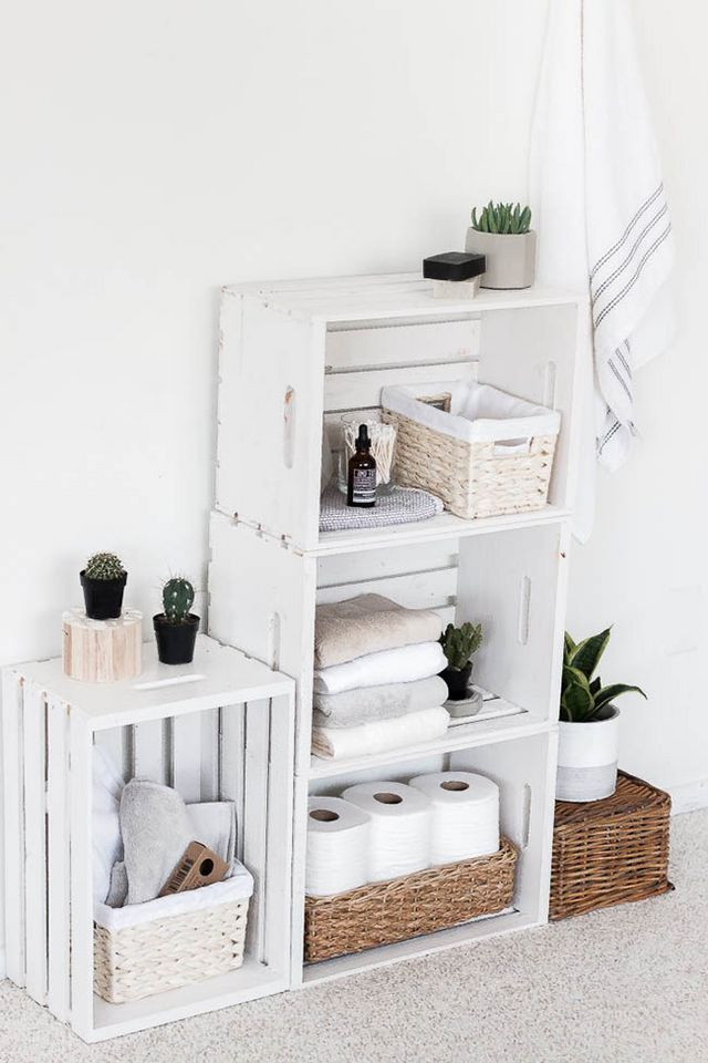 DIY: Nordic and low cost bathroom storage (Boho Deco Chic)