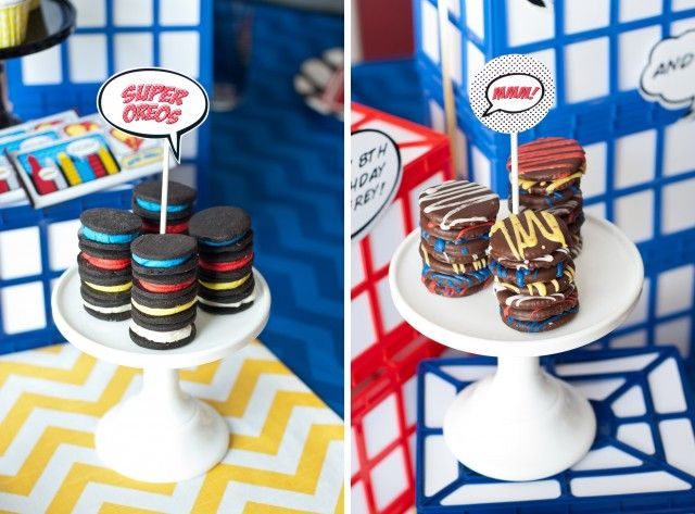 Vintage Comic Book Style Super Hero Birthday Party {On A Budget!!} – Anders Ruff…