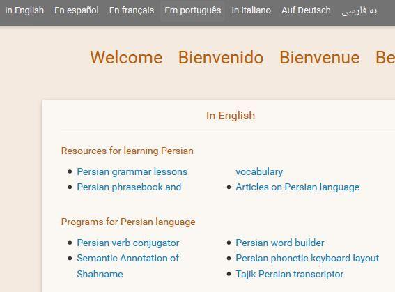 Lernseite Persisch - Deutsch