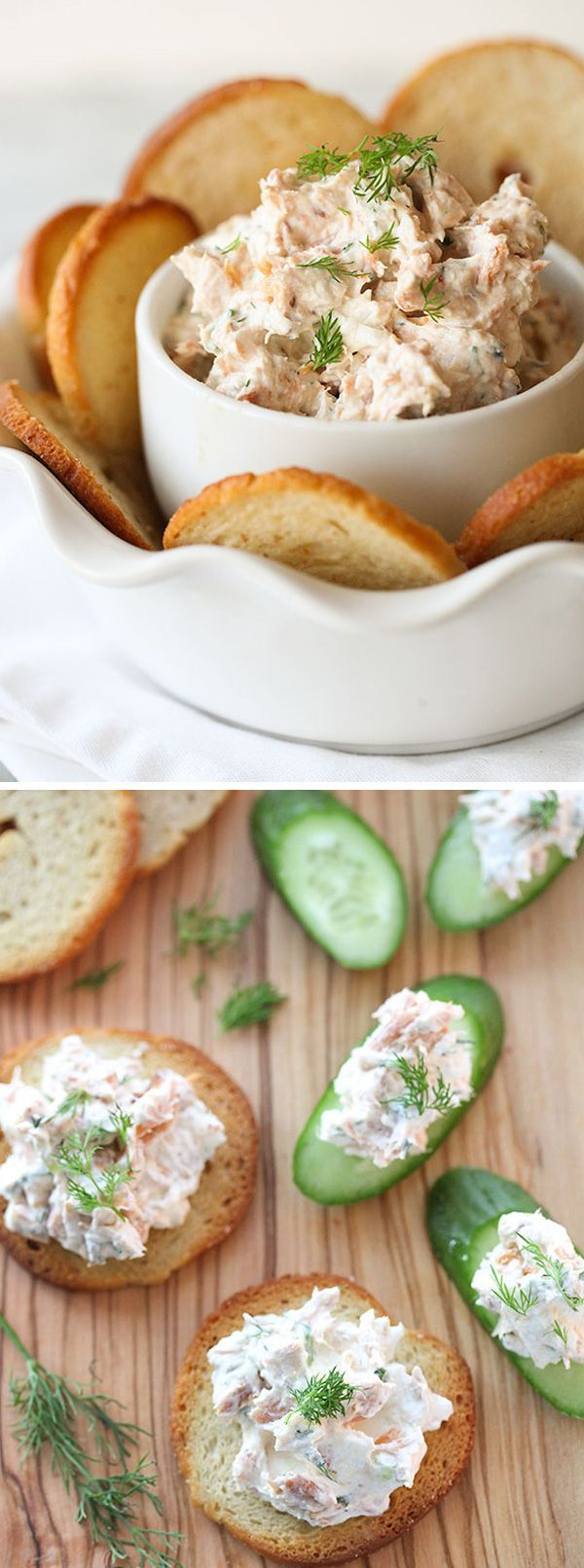 This spread is great on fresh veggies and toasted baguettes alike. I personally enjoy it on Sea Salt flavored bagel crisps, a perfect one bite party snack. #recipe on foodiecrush.com