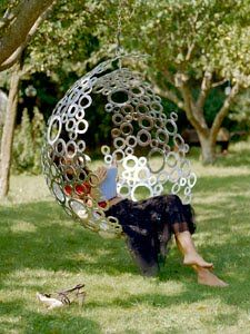 Garden Bubble Swing.  This is where you will find me.