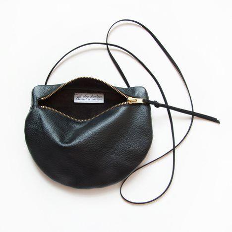 Pearl Leather Shoulder Satchel