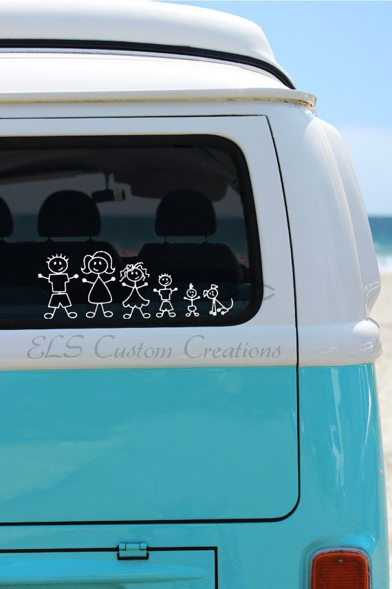 Best VW Bus Stickers And Decals Images On Pinterest Stickers - Family decal stickers for carscar truck van vehicle window family figures vinyl decal sticker