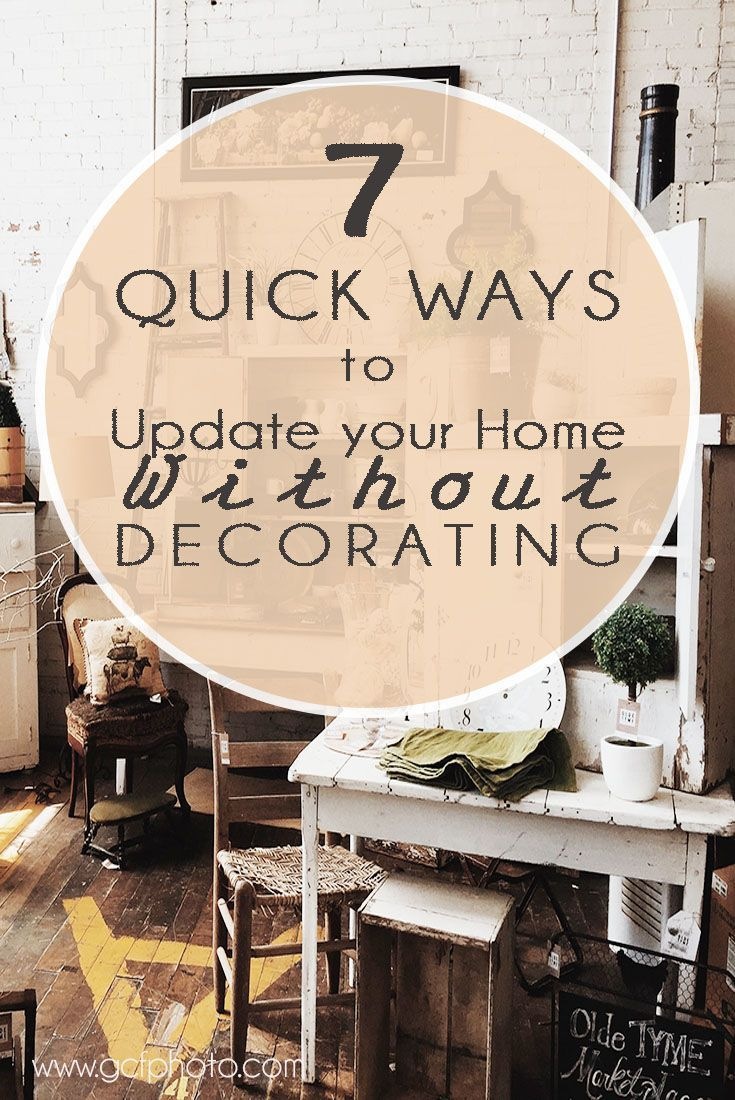Awesome home decor tips & tricks to change the look of a room fast without decorating! Click through now to read more on my blog >>