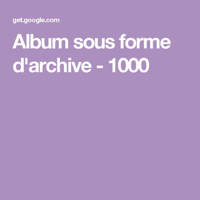 Album sous forme d'archive - 1000