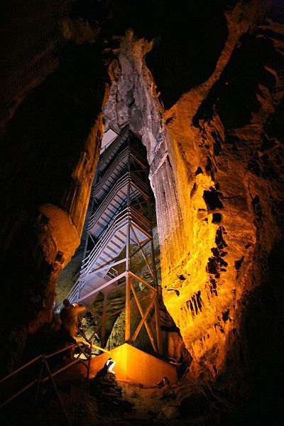 Mamouth Caves, KY. World's longest cave. And, yes, this is how you get out. A fire tower!!
