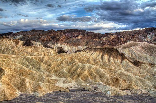 Incredible Zabriskie point in Death Valley Photograph