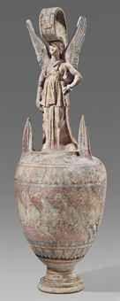 A CANOSAN POTTERY FIGURAL VASE   Apulia,circa 3rd Cent.BC Christie's
