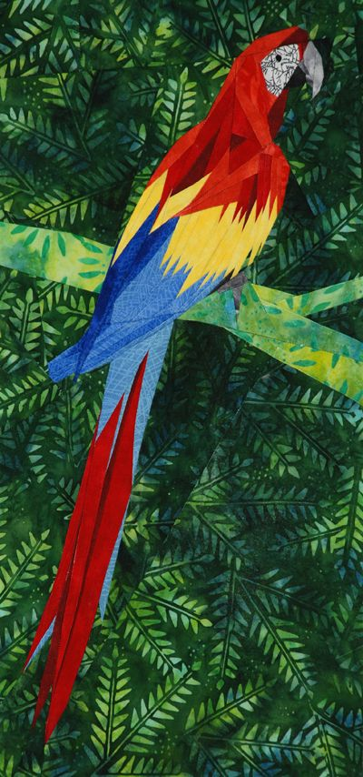 Red Macaw Paper Pieced Pattern By Silver Linings