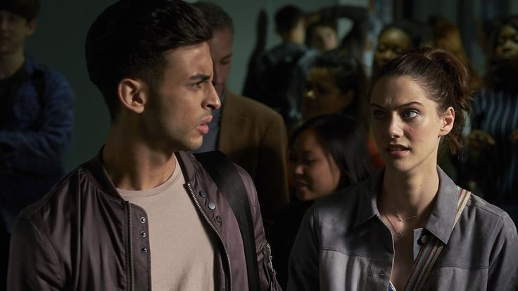 Ram (Fady Elsayed) and April (Sophie Hopkins) -- Class.S01E04 - ''Co-Owner of a Lonely Heart'' (Class - BBC Three Series) (Doctor Who - BBC Series) (BBC Three - Photo Gallery: Class - ''Co-Owner of a Lonely Heart'') pic: http://www.bbc.co.uk/programmes/p04drqw6/p04drqg3 episode page: http://www.bbc.co.uk/programmes/p04dr5sg BBC Three - Photo Gallery: Class -'''Co-Owner of a Lonely Heart'' link: http://www.bbc.co.uk/programmes/p04drqw6
