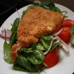 How To Make Chicken Milanese With Arugula Salad