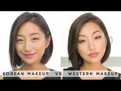 50e737df19b [MAKEUP] Korean makeup vs Western makeup | dahyeshka - YouTube  #KoreanMakeupEyeliner